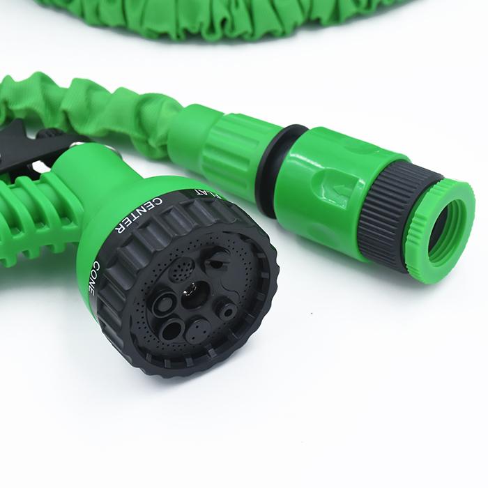 Image of   Vandslange Magic flex, 15,25 m, grøn. Inkl sprøjtepistol og kobling