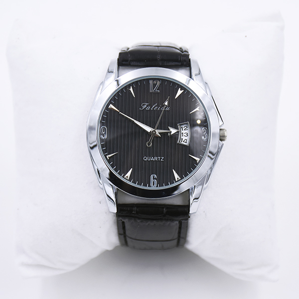 Image of   Armbåndsur, sort, quartz, PU læder D.: 4 cm