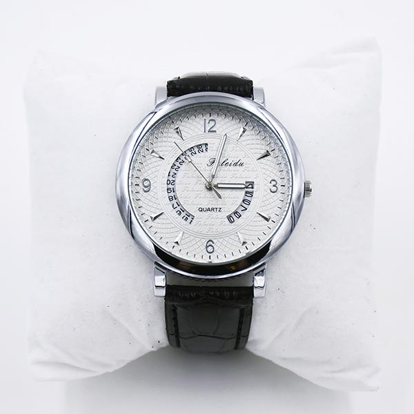 39.95 Armbandsur, svart eller brun / mörkröd, kvarts, D:. 4,5 cm Svart