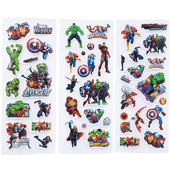 Image of   3D klistermærker Avengers