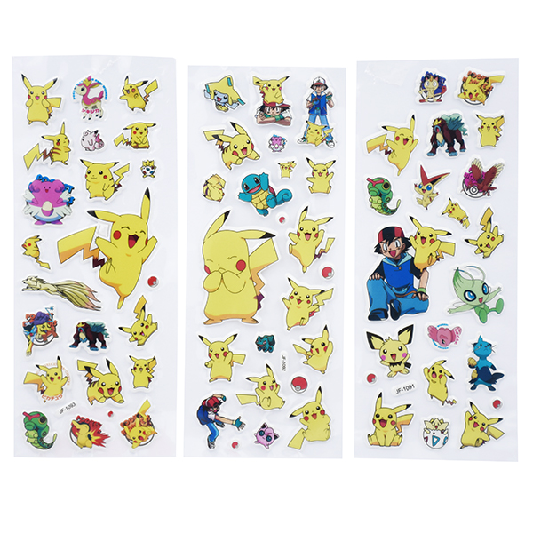 Image of   3D klistermærker Pokémon