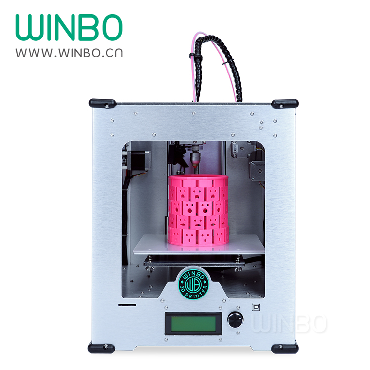 Mini 3D printer, Winbo, single head, byggestr; 205x155x155 mm