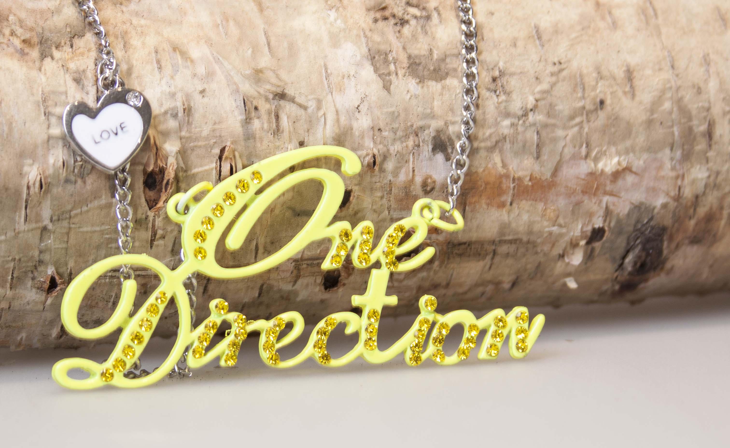 One Direction halskæde med love vedhæng Sølv