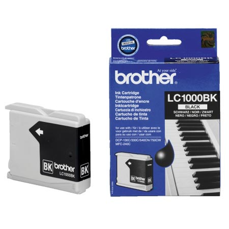Image of   Brother LC1000 BK, sort blækpatron, Original (25 ml)