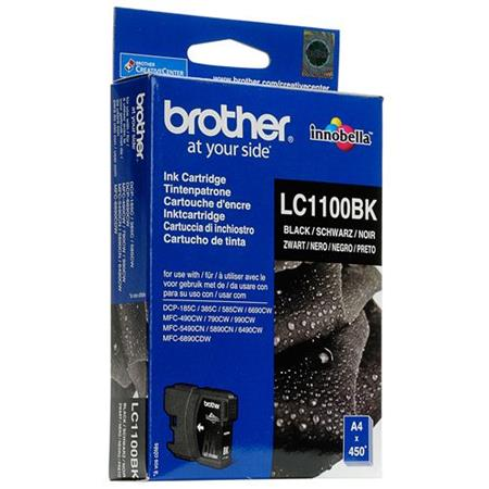 Image of   Brother LC1100 BK, sort blækpatron, Original (12,95 ml)
