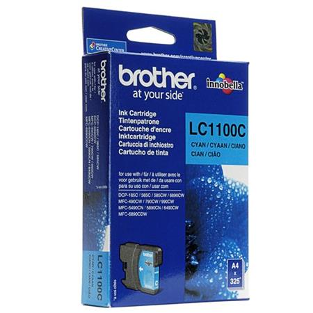 Image of   Brother LC1100 C, Cyan blækpatron, Original (5,95 ml)