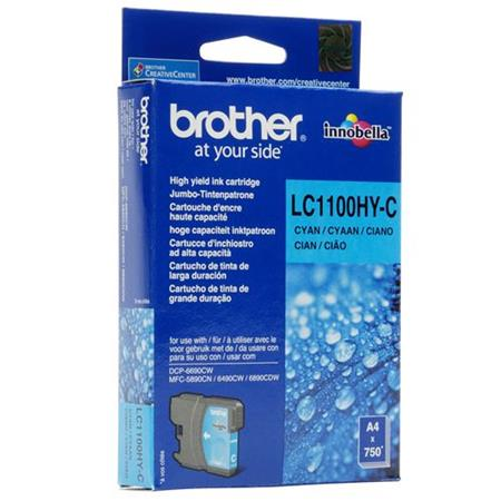 Image of   Brother LC1100 XL C(LC-1100HYC) Cyan blækpatron, Original (10,95 ml)