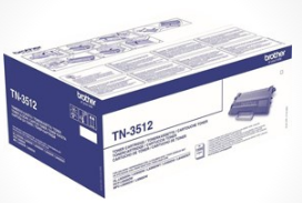 Image of   Brother TN3512 BK sort Lasertoner, Original