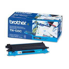 Image of   Brother TN135 C Cyan Lasertoner, Original