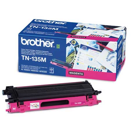 Image of   Brother TN135 M Magenta Lasertoner, Original