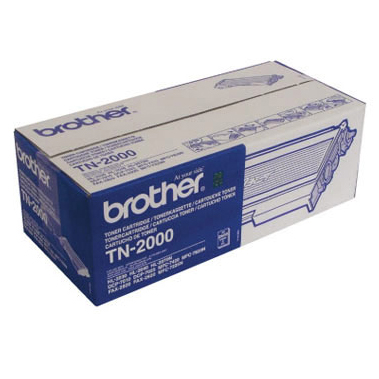 Image of   Brother TN2000 BK sort Lasertoner, Original