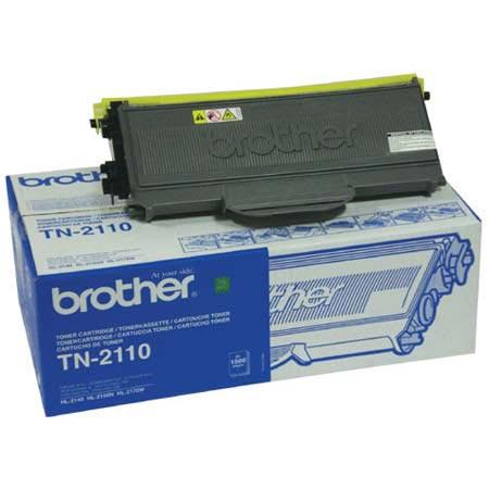 Image of   Brother TN2110 BK sort Lasertoner, Original