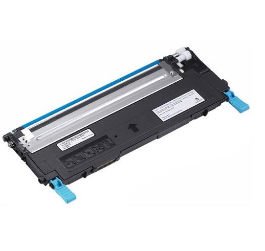 Image of   Dell 1230/1235 C Lasertoner, Cyan, Kompatibel, 1000 sider
