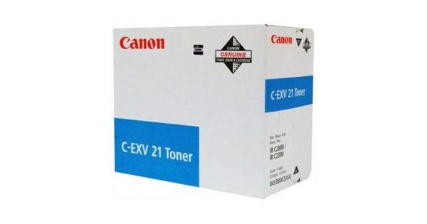 Image of   Canon C-EXV 21 C 0453B002 cyan toner, original