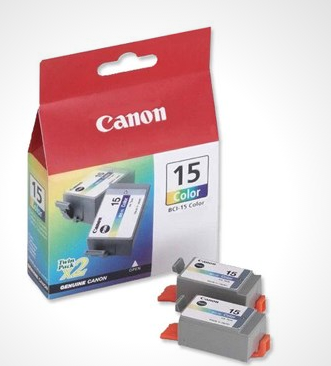 Image of   Canon BCI-15C, 8191A002 3 farvet blækpatron Original