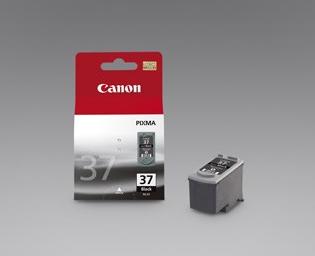 Canon PG-37 BK, sort blækpatron, Original, 220 sider