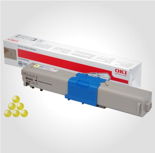 Image of   OKI C332/MC363 Y (46508709) Lasertoner, gul, Original (3000 sider)