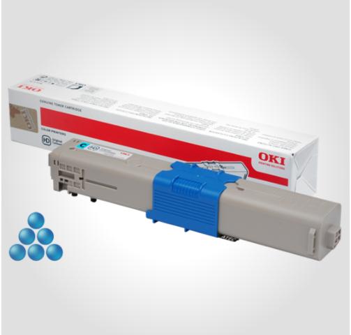 Image of   OKI C332/MC363 C (46508711) Lasertoner, Cyan, Original (3000 sider)