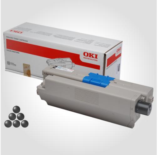Image of   OKI C332/MC363 BK (46508712) Lasertoner, Sort, Original (3500 sider)