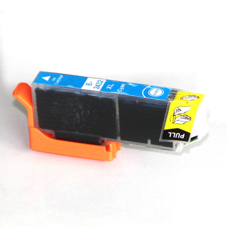 Image of   Epson 24XL T2432 C CyanUniversal kompatibel blækpatron (12 ml)