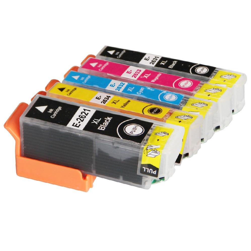 Image of   Epson 26XL sampak 5 stk kompatibel (380 ml)