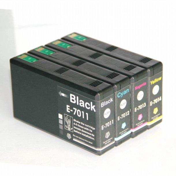 Epson T7011/T7012/T7013/T7014 combo pack 4 stk blækpatron BK/C/M/Y 178 ml