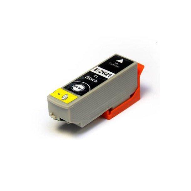 Epson 26XL T2621 BK 22 ml, Sort, kompatibel bl�kpatron