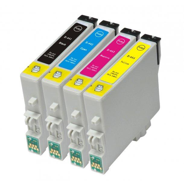 Epson T0441 / T0442 / T0443 / T0444 combo pack 4 stk blækpatron BK/C/M/Y 72,8 ml