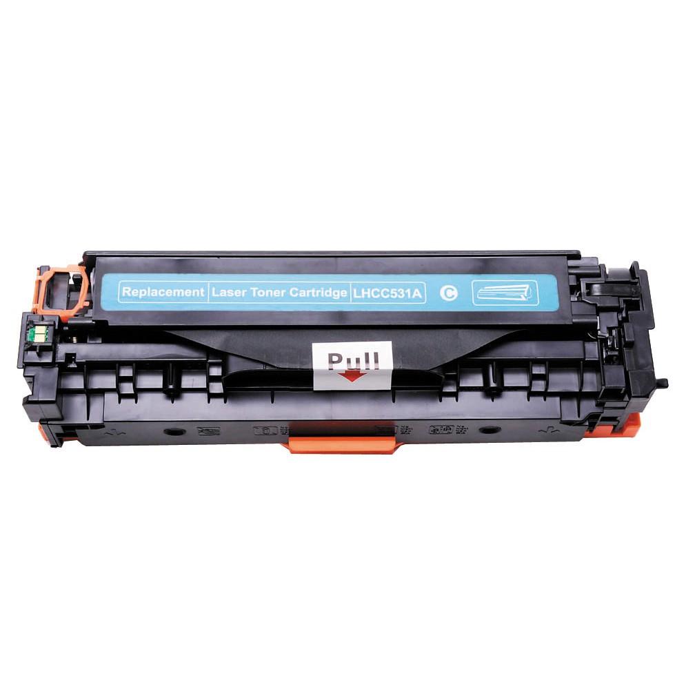Image of   HP 531A/411A (CC531A) C Lasertoner Cyan, kompatibel (2800 sider)