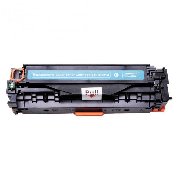 HP CC531A (HP 304A) Lasertoner Cyan, (2800 sider)