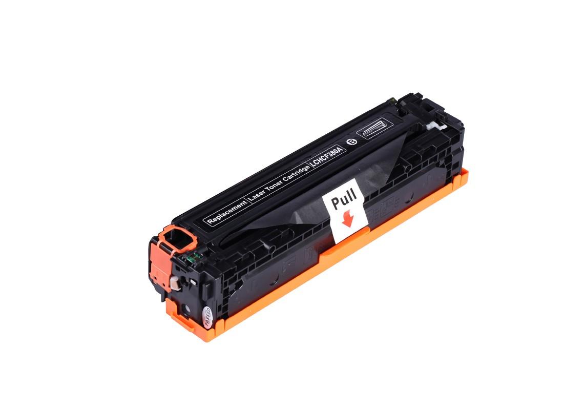 Image of   HP 380A (CF380A) BK Lasertoner Sort, kompatibel (2400 sider)