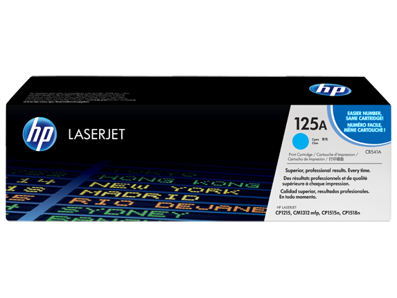 Image of   HP CB541A C Cyan Lasertoner, Original