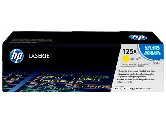Image of   HP CB542A Y Gul Lasertoner, Original