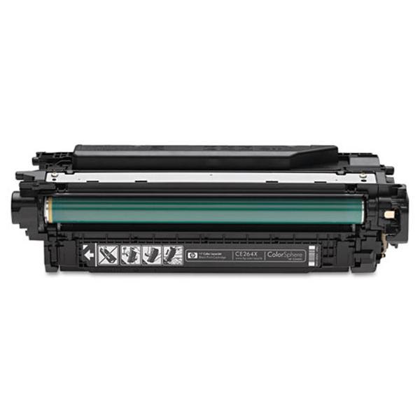 Image of   HP CE264X BK (HP 646X) Lasertoner, sort, kompatibel, 17000 sider
