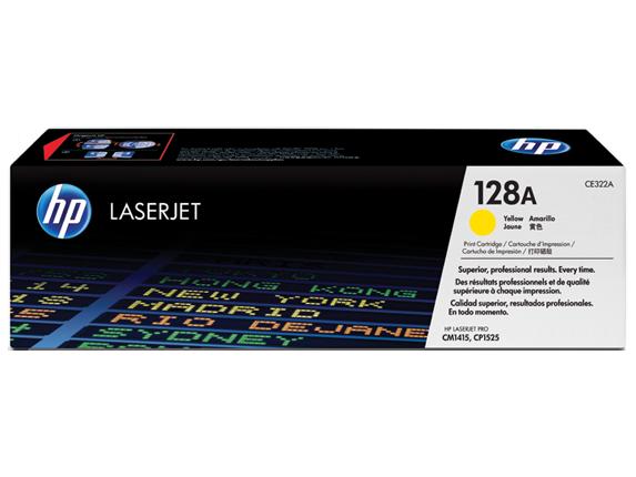 Image of   HP CE322A Y Gul Lasertoner, Original