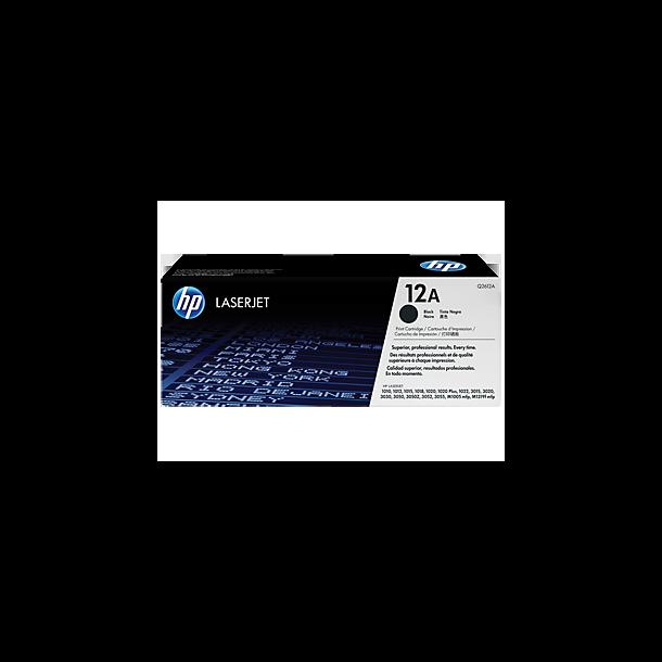 HP Q2612A BK sort Lasertoner,