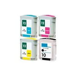HP Business Inkjet 4 Farvet Refill H10BK-12C/M/Y
