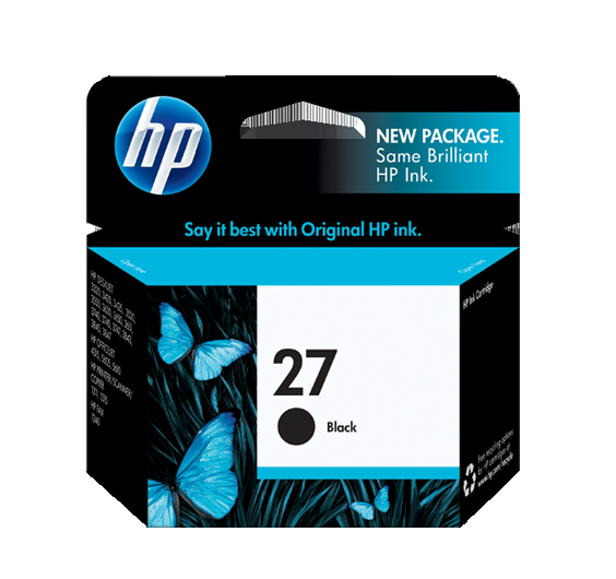Image of   HP 27 BK (C8727AE) sort 3320,95420,9520,blækpatron,Original 10ml