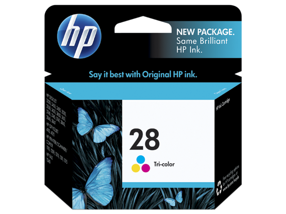 Image of   HP 28C (8728AE), 3 farve blækpatron, Original 8ml