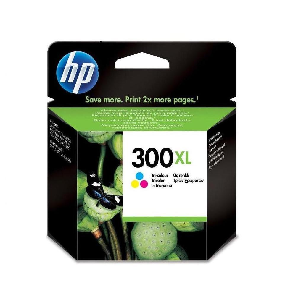 Image of   HP 300 XL C (CC644EE) med chip, 3 farve blækpatron, Original 11 ml