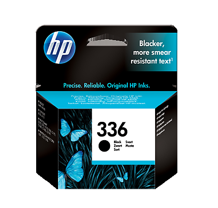 Image of   HP 336 BK (C9362EE) sort blækpatron, Original, 5ml