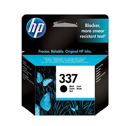 Image of   HP 337 BK (C9364EE) sort blækpatron, Original, 11ml