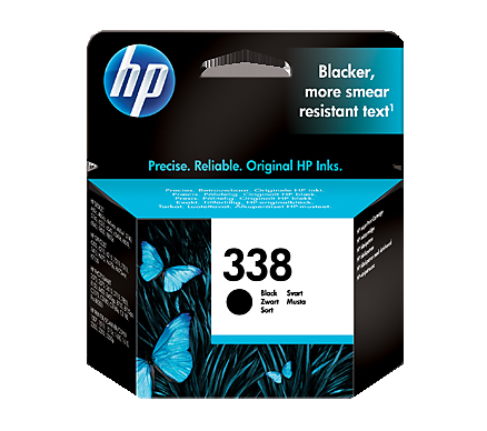 Image of   HP 338 BK (C8765) PSC 2611, sort blækpatron,Original 11ml