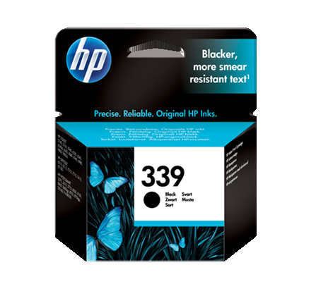 Image of   HP 339 BK (C8767EE) PSC 2610,sort blækpatron, Original, 21ml