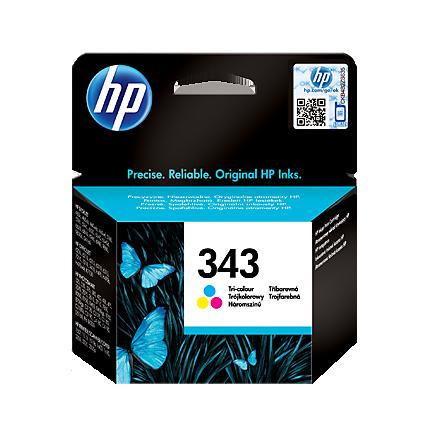 Image of   HP 343 C (C8766EE)PSC 2610, farve blækpatron, Original, 7ml