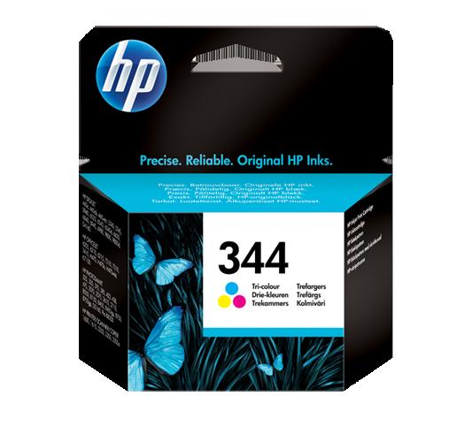 Image of   HP 344 CMY (C9363EE) 3 farve blækpatron, Original, 14ml