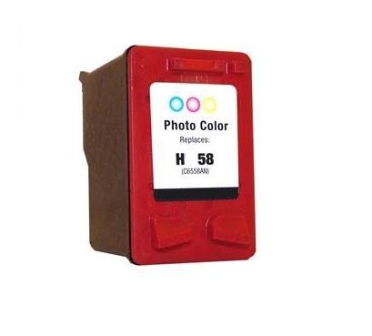 HP 58 (C6658AN) med chip foto farvet kompatibel blækpatron