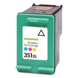 Image of   HP 351 (CB337EE farve kompatibel blækpatron 10 ml