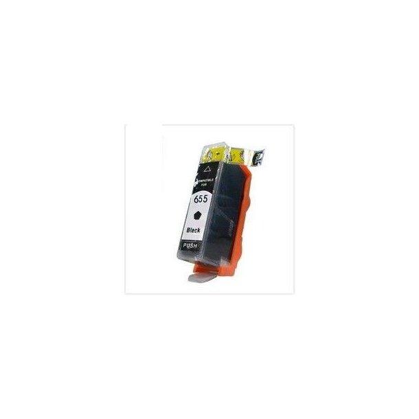 HP 655 BK (CZ109AE) Sort blækpatron (24 ml)