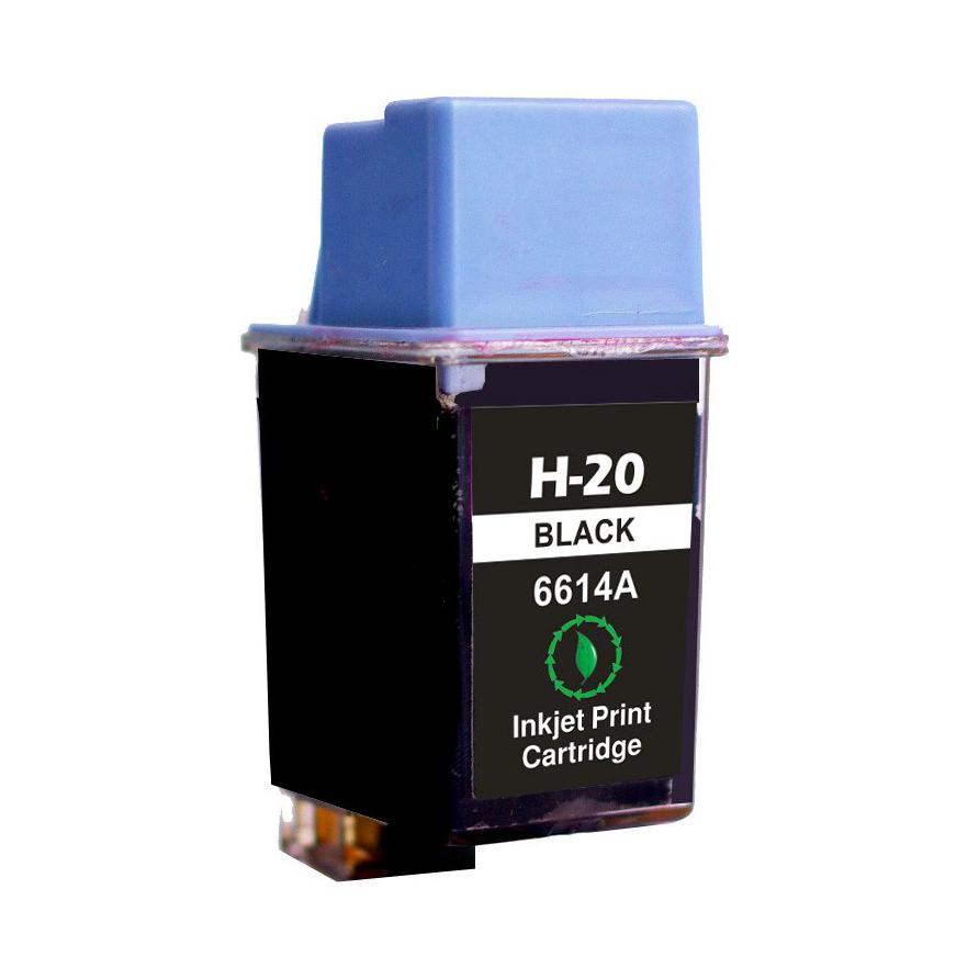 HP 20BK - C6614DE Kompatibel - Sort 40 ml